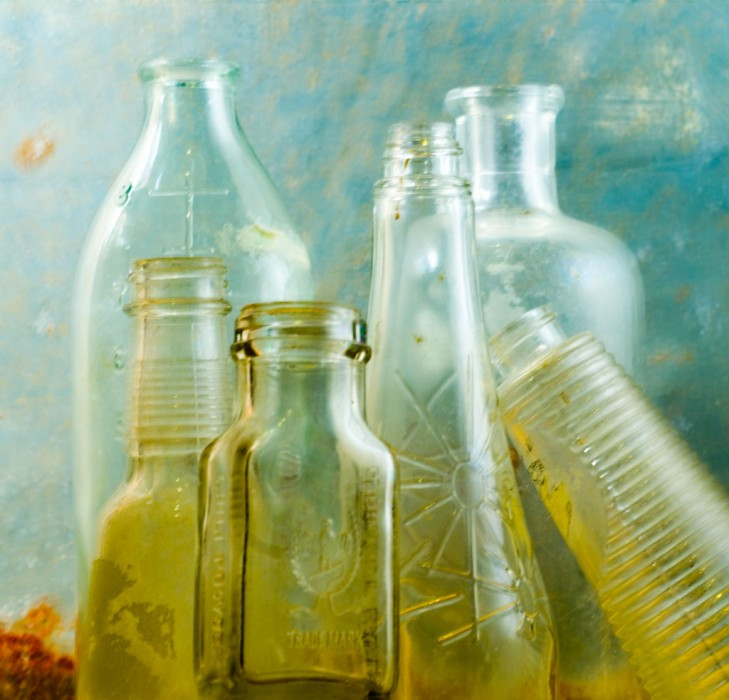 Cool colors and vintage glass make this photograph by Seattle photographer Randy Allbritton a classic